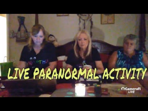 PARANORMAL ACTIVITY CAUGHT ON CAMERA DURING LIVE STREAM!