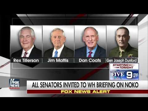 ✅ BREAKING: President Trump calls emergency Senate meeting at White House over North Korea 4/24/17