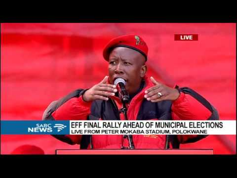 Commander in Chief Malema has addressed EFF's final election rally in Polokwane