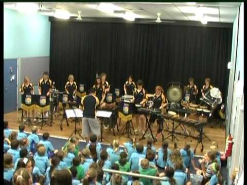 Senior Percussion Ensemble Brighton Secondary School Cairns Tour 2007 Redlynch Concert.mpg