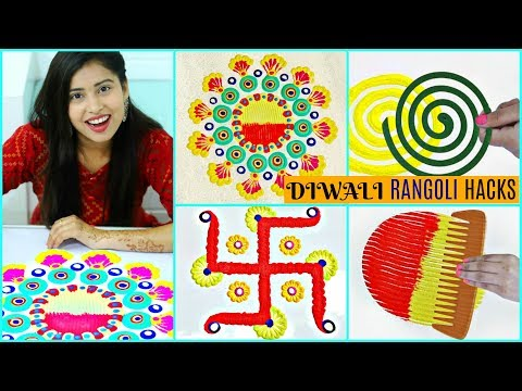 Super Easy DIY Rangoli Hacks  | #Diwali #Colours  #Anaysa #DIYQueen