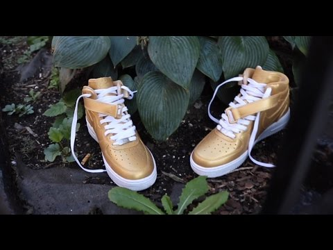 CUSTOM GOLD AIR FORCE ONES!!!