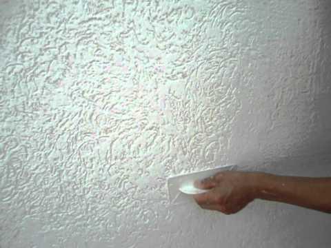 Como aplicar grafiato textura em parede youtube for Textura de pared