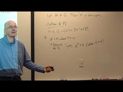Abstract Algebra, Lec 11A, Idea of Proof of Part of Fund Thm of Cyclic Groups, Permutation Groups
