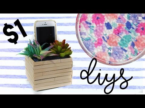 $1 DIY Room Decor | Dollar Store DIY Projects
