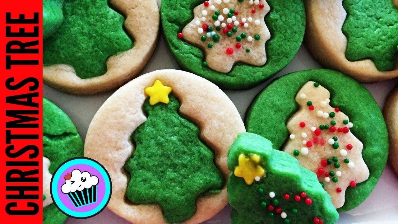 How to make Christmas Tree Sugar Cookies | #25DaysofCookies - YouTube