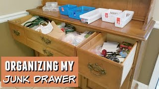Junk Drawer l Organizing My Junk Drawer l Organize with Me l Southern with Charm