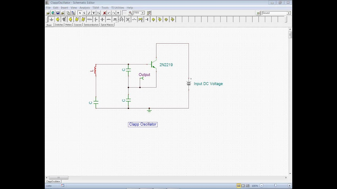 Clapp Oscillator With Tina Opamposcillator Oscillatorcircuit Signalprocessing Circuit