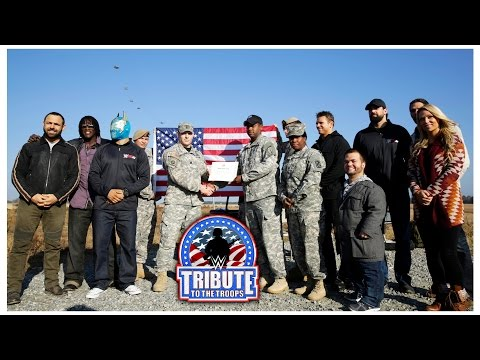 WWE Superstars observe a re-enlistment ceremony: WWE Tribute to the Troops