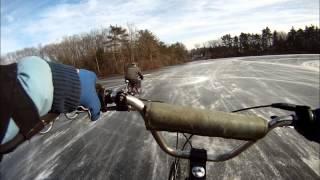 Ice Racing motorized bicycle