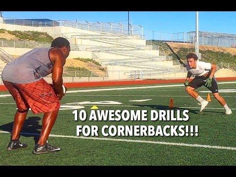 10 CORNERBACK DRILLS FOR LOCKDOWN SKILLS!!!