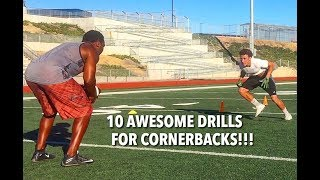 10 CORNERBACK DRILLS FOR LOCKDOWN SKILLS!!!