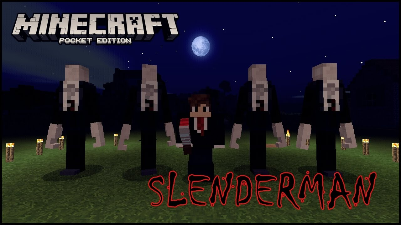 how to find slenderman in minecraft pocket edition