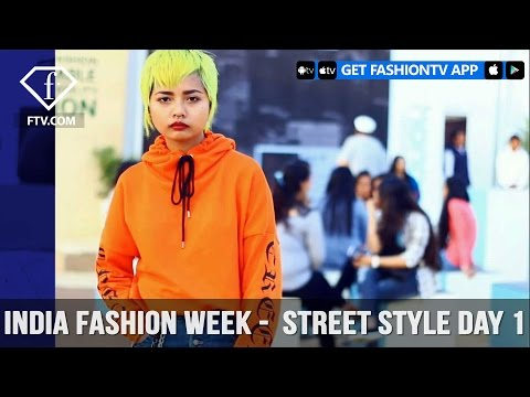 India Fashion Week FW17 - Street Style Day 1 | FashionTV