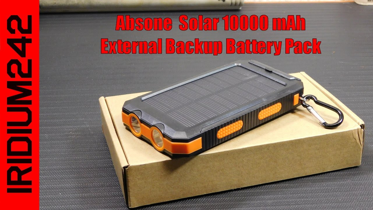 Absone Solar 10000 mAh External Backup Battery Pack
