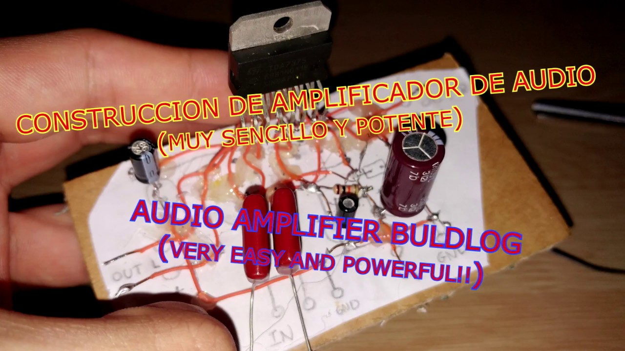 Diy Powerful Easy Audio Amplifier 2x 35w Amplificador Casero Circuit Sencillo Y Potente Part 1