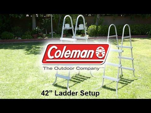 coleman 42 inch ladder setup youtube