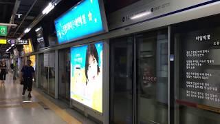 【韓国】 ソウル地下鉄1号線 鍾路3街駅 서울 지하철 1호선 종로3가역 Seoul Metro Line 1 Jongno 3-ga Station (2017.7)