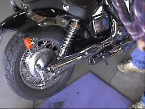 Swindell garage series 2007 honda shadow 750 exhaust for Garage modification