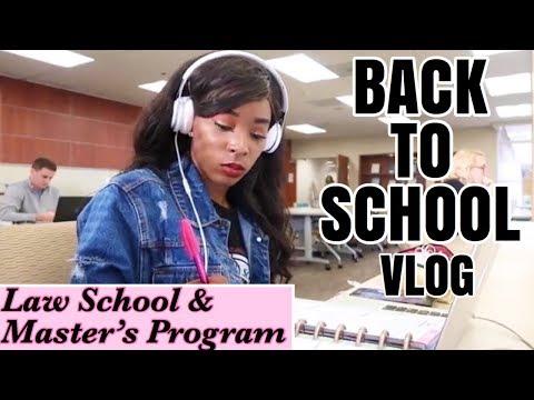 BACK TO BUSINESS | LAW SCHOOL/ GRAD SCHOOL VLOG