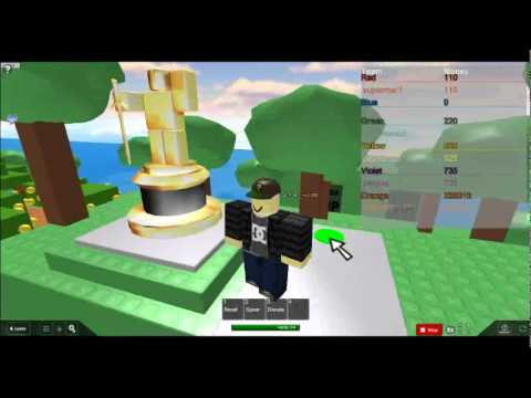 ROBLOX getting the gold statue YouTube