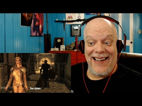 "REACTION VIDEO | ""Gamerpoop: Skyrim #16"" - Manly Men Indeed!"