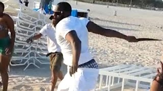 Video appears to show New Orleans Saints linebacker hitting woman on beach