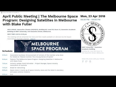 SAA - April Public Meeting - Melbourne Space Program and SIAA