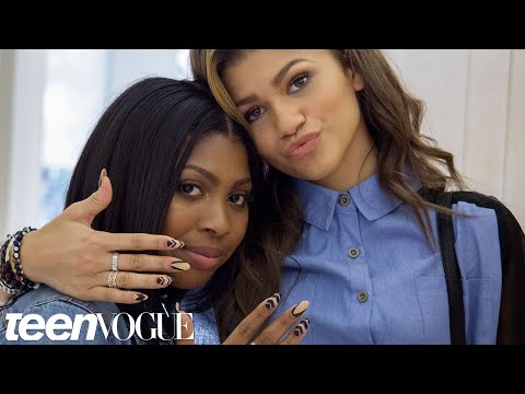Zendaya and Her Best Friend Zink's Nail Art Mani Date – Besties – Teen Vogue