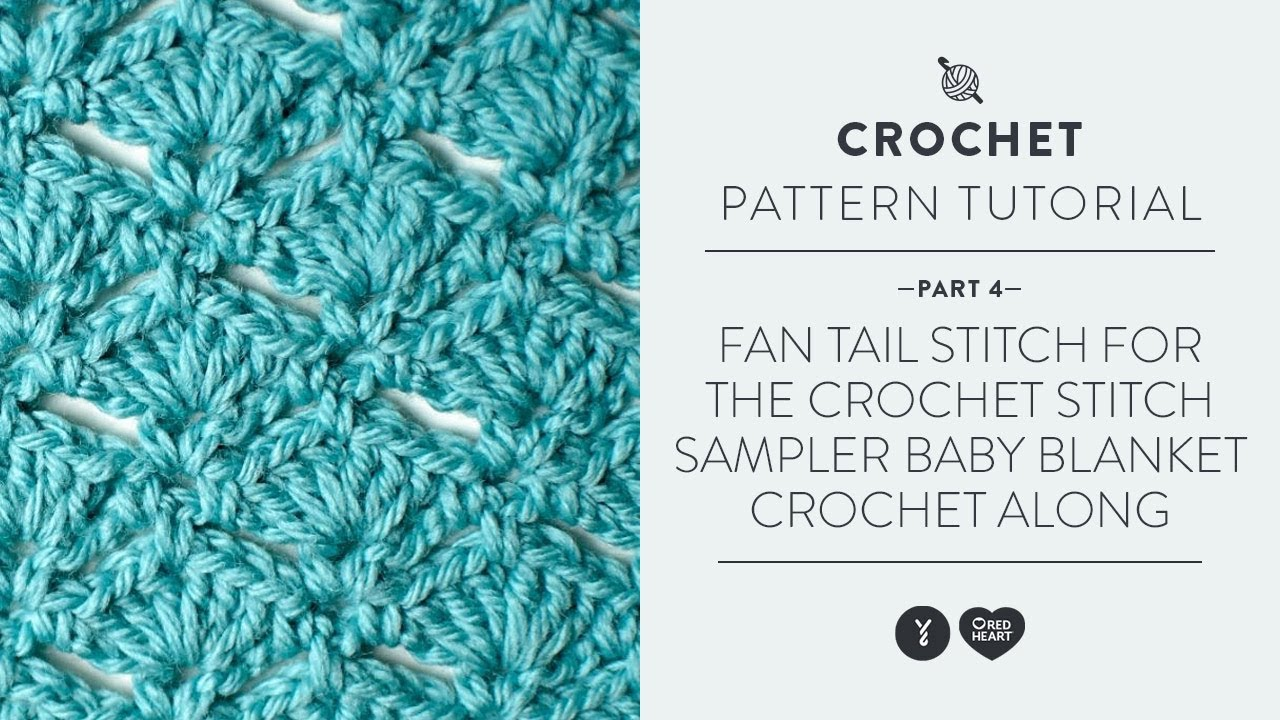 Crochet Baby Blanket Patterns Easy Free : Fan Tail Stitch for the Crochet Stitch Sampler Baby ...