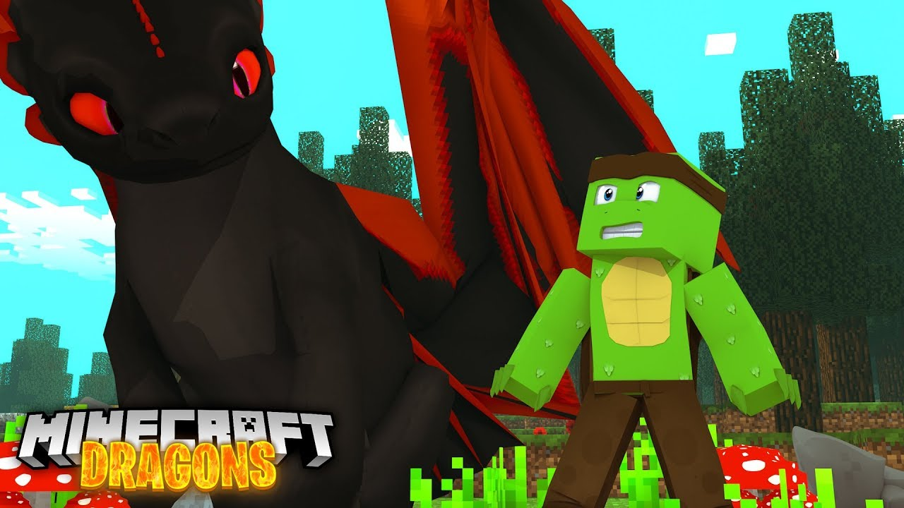 Giant Nightfuries Minecraft Dragons Youtube