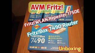 FritzBox 7490 Router + FritzWLAN Repeater 1750E Mesh AVM [Unboxing]
