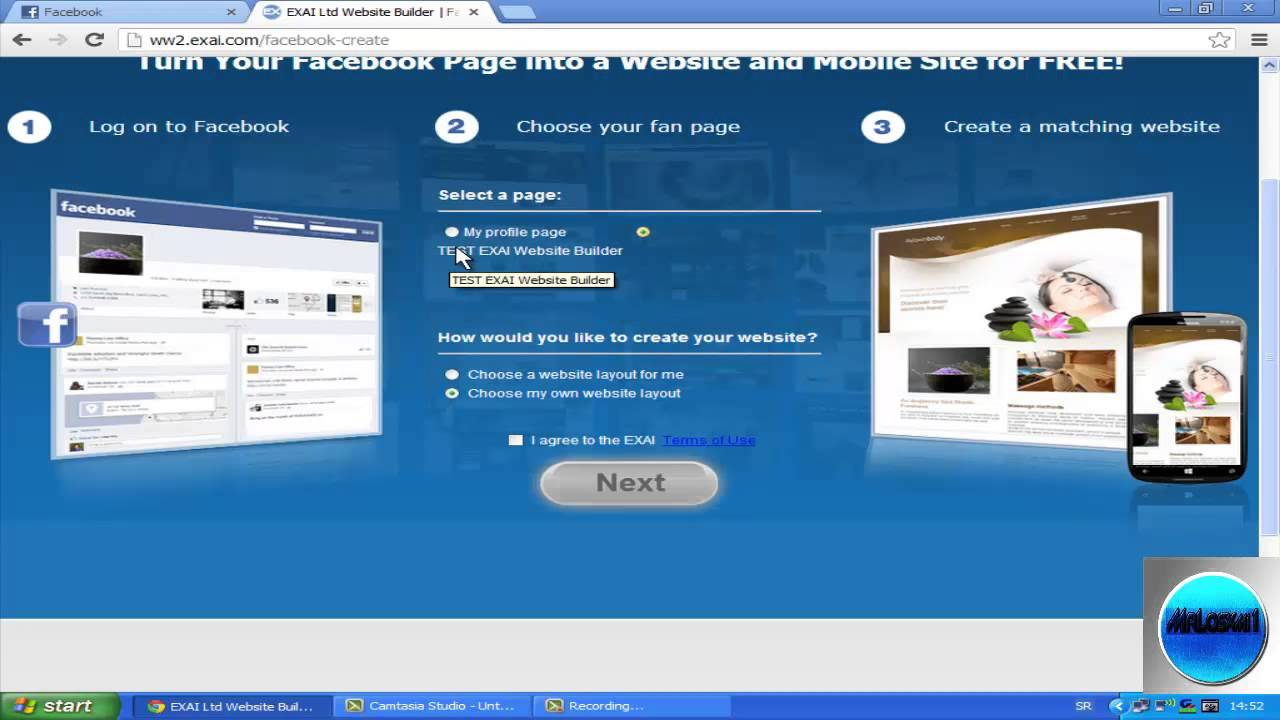 how to create own page