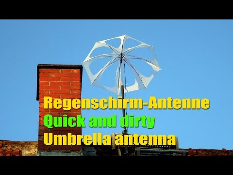 Regenschirm Antenne NOAA APT Umbrella Antenna (quick n dirty)