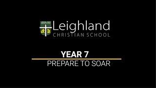 Year 7 -  Prepare to Soar -  Mr Glenn Mace Principal