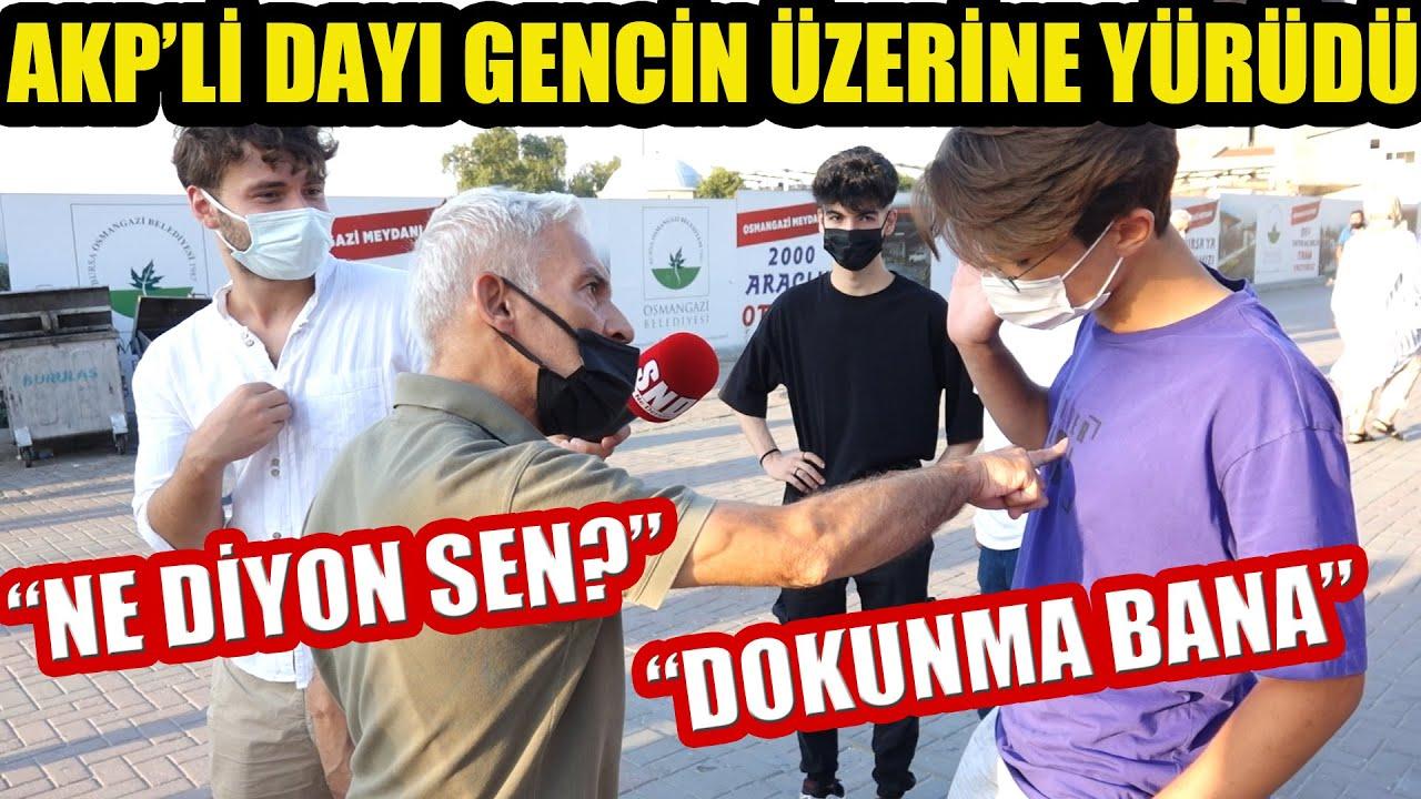 AKP'li abi Z Kuşağı gencin üzerine yürüdü, ortam sebepsiz gerildi! Meydanda Suriyeli tartışması!