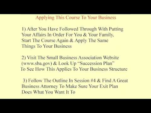 Estate Planning Solutions for Families, Course 8: Protecting Business Assets