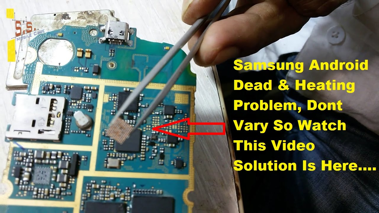 samsung s7562 power ic replacement solution | samsung dead fix power ic replace problem  YouTube