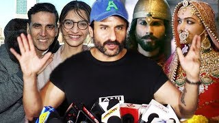 Saif Ali Khan's SHOCKING Answer On Akshay's Padman Vs Ranveer's Padmavati Clash