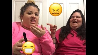 Funny Vine challenge cant laugh loser has to eat what!!! (WITH MOM😂😷😖)