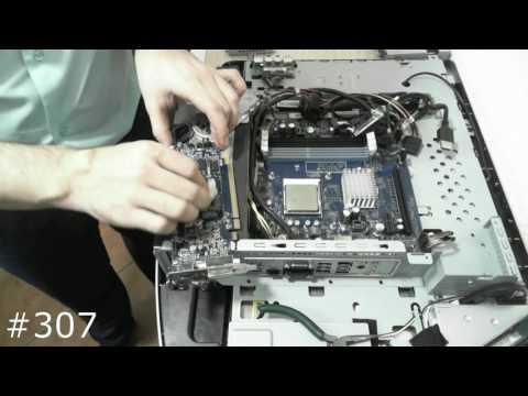Полная разборка моноблока Packard Bell OneTwo L5351. Техобслуживание, Замена HDD, SSD, RAM, ODD