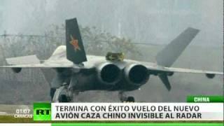 China realiza con éxito el vuelo de nuevo avión caza invisible al radar