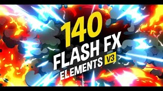 Скачать 140 Flash FX Elements After Effects Template