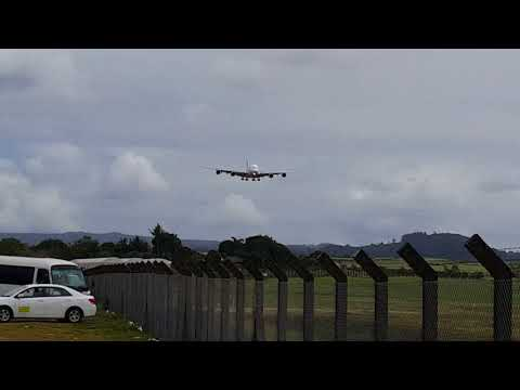 Landing Flight EK 701/MK911 DXB to MRU - 08.09.17 (4K Video)