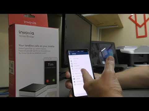 Invoxia Voice Bridge. Landline Calls On Your Mobile.