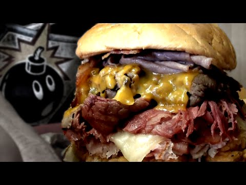 Competitive Eater takes on Arby's Meat Mountain