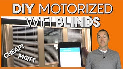 Motorize and Automate your Blinds for $10! (WiFi)