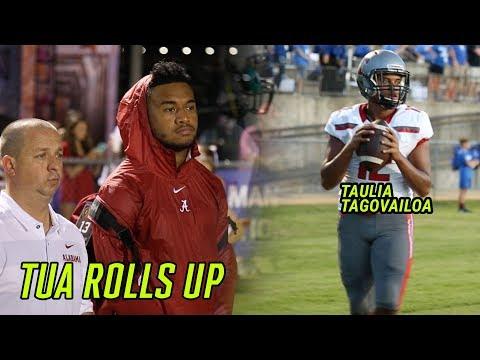 Alabama's Tua Tagovailoa Watches Little Bro Taulia Put On A SHOW! Who's The BETTER PROSPECT!?