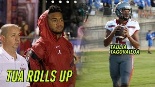 Alabama's Tua Tagovailoa Watches Little Bro Taulia Put On A SHOW! Who's The BETTER PROSPECT!?