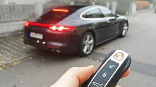 all new porsche panamera 4s launch control sound and in detail